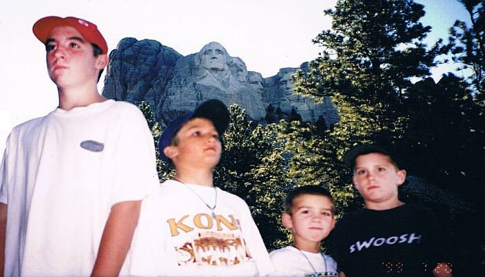 Four Guys At Mt. Rushmore